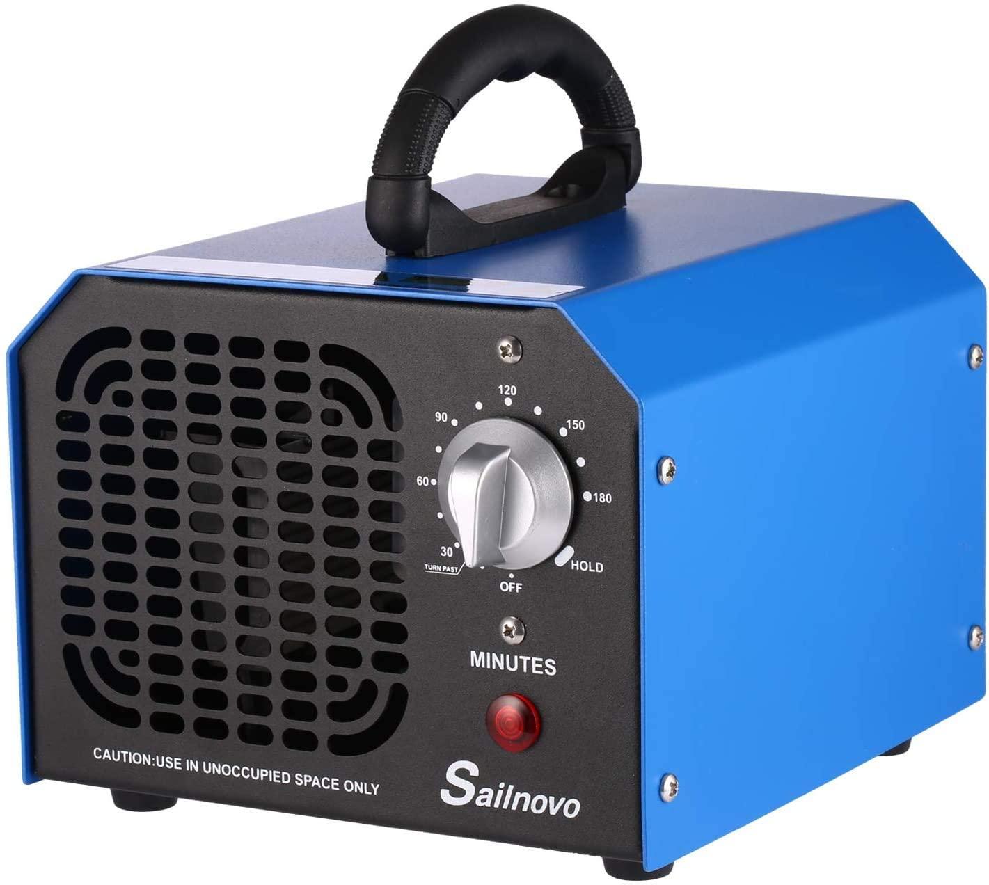 Sailnovo Ozone Generator Ozone Machine for Rooms Car Home Hotel Smoke