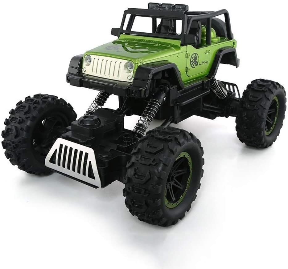 Xuess 1:14 RC Off-Road Truck 2.4Ghz Radio Electric Remote Control Buggy Kids Gift Oversized Four-Wheel Drive Alloy Off-Road Vehicle Remote Control Climbing High Speed Truck (Color : Green)