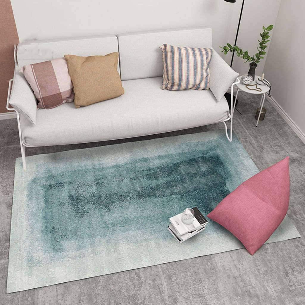 European Style Livingroom Carpet,Modern Shaggy Comfortable Washable Soft Short Plush Suitable for Sofa Bedroom Children's Room Carpet-140x200cm(55x79inch)-BA