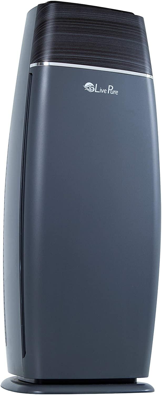 LivePure LP260TH-G Sierra Series True HEPA Digital Tall Tower Air Purifier for Home Captures Allergens, Smoke, Pollen, Mold, Dust Mites, Pet Hair, Energy Star Certified, Graphite