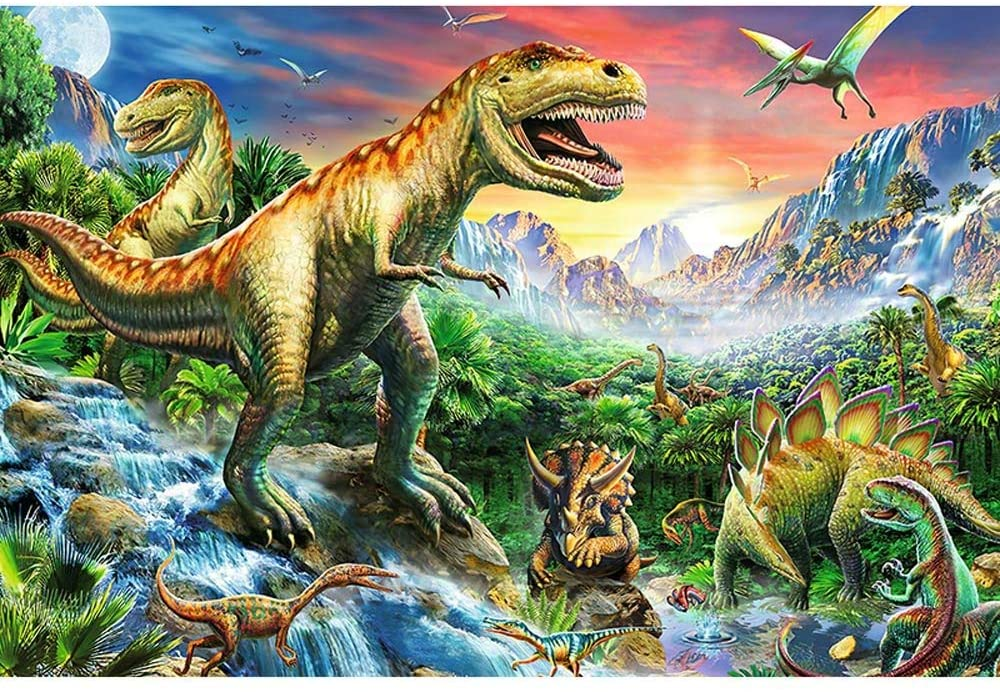 YQSHYP Cartoon Anime Series, Dinosaur World,300,500,1000 Piece,Large Jigsaw Puzzles for Adults and Children,Assembled Puzzle Games Fun Toys (Color : 1000PCS)