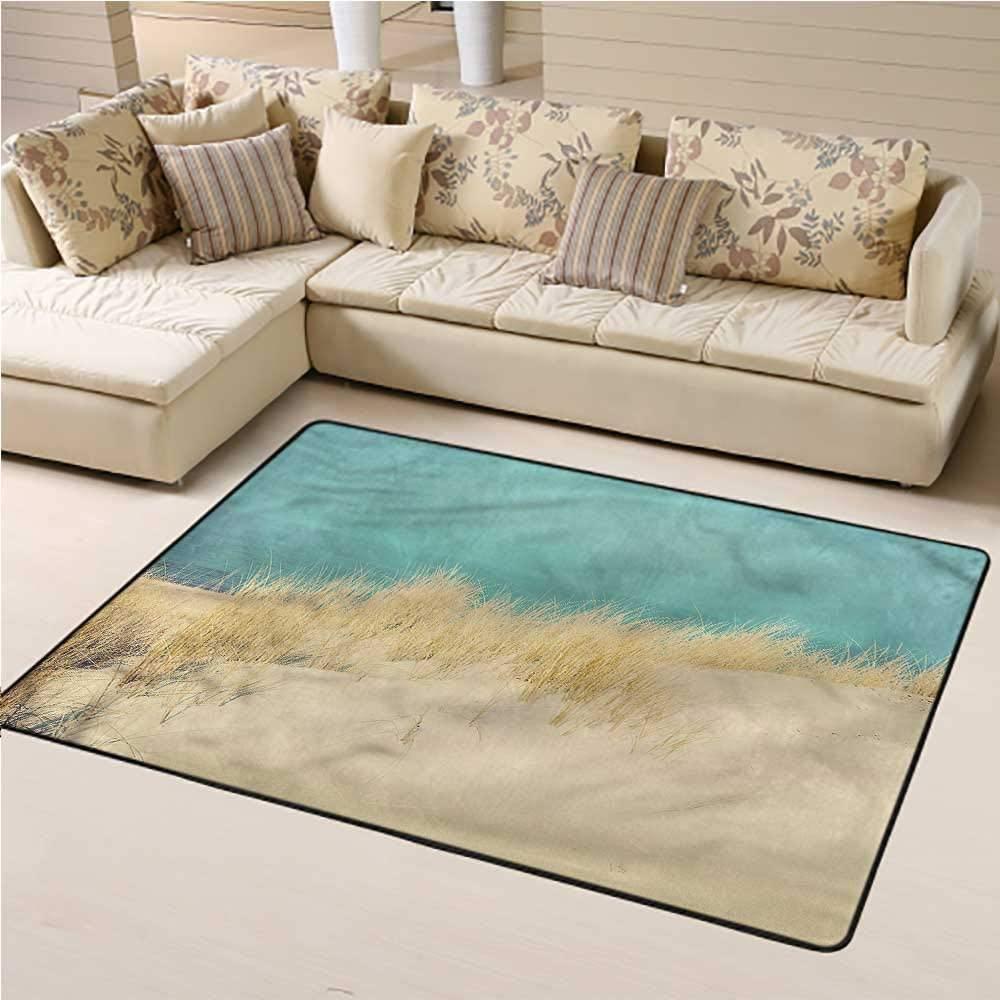 Rugs Modern, Sand Dunes Beach Morning Kids Carpet Extra Large for Kids Living Room Nursery Home Decor 6 x 9 Feet