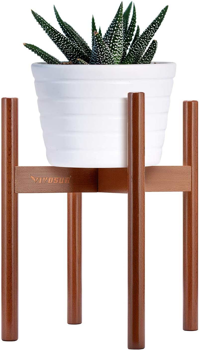 VIVOSUN Mid Century Modern Plant Stand Indoor Wood Plant Holder Flower Pot Holder Fits Pot Size of 8-10 inches (Pot & Plant Not Included)