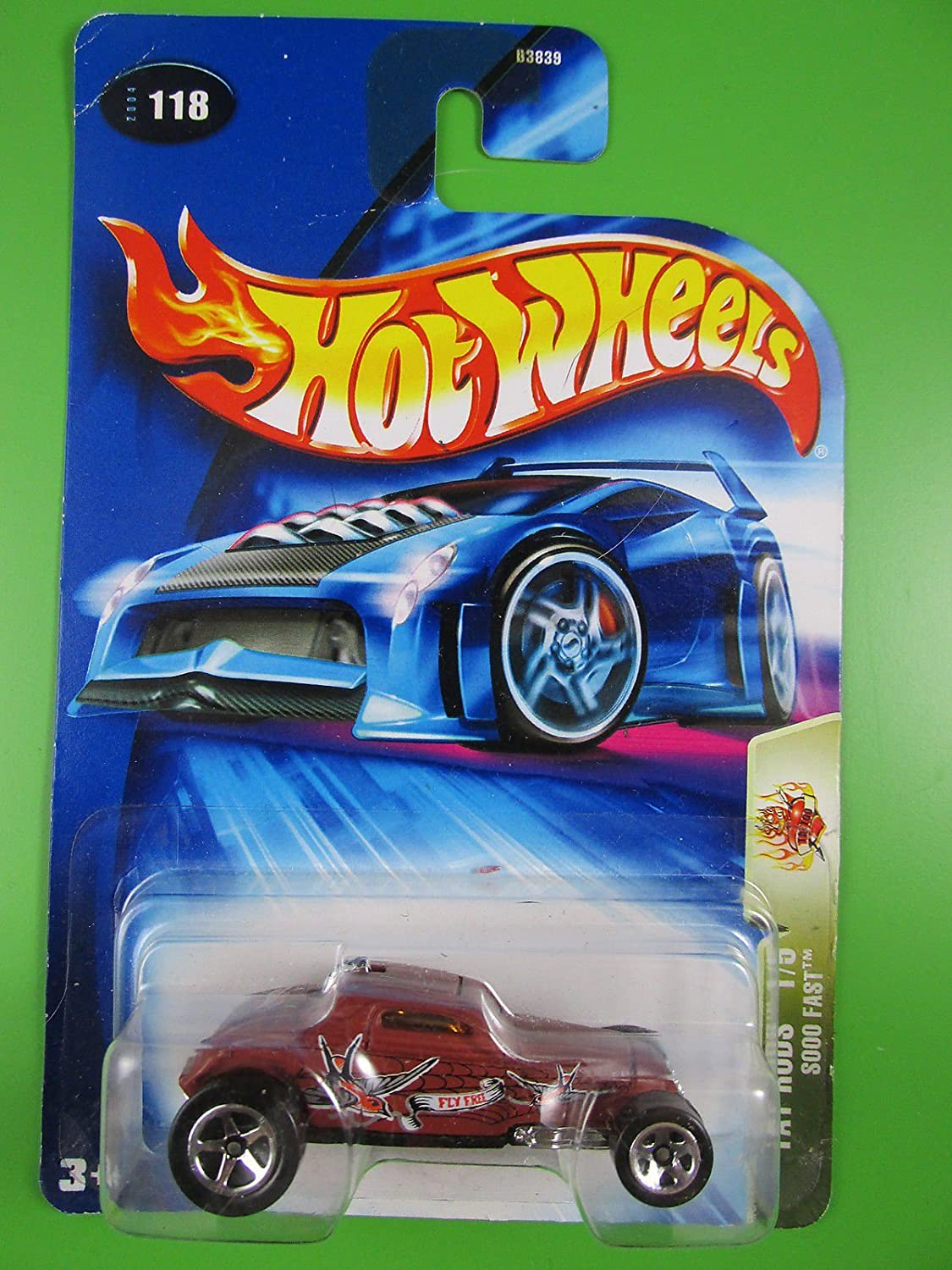 HOT WHEELS 2004 - Sooo Fast - Tat Rods - 118 - US-Card - neu in OVP /item# R6SG5EB-48Q22516