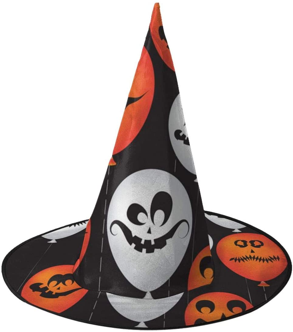 Halloween Costume Witch Hat,Halloween Ghost Balloons Accessory for Holiday Halloween Party
