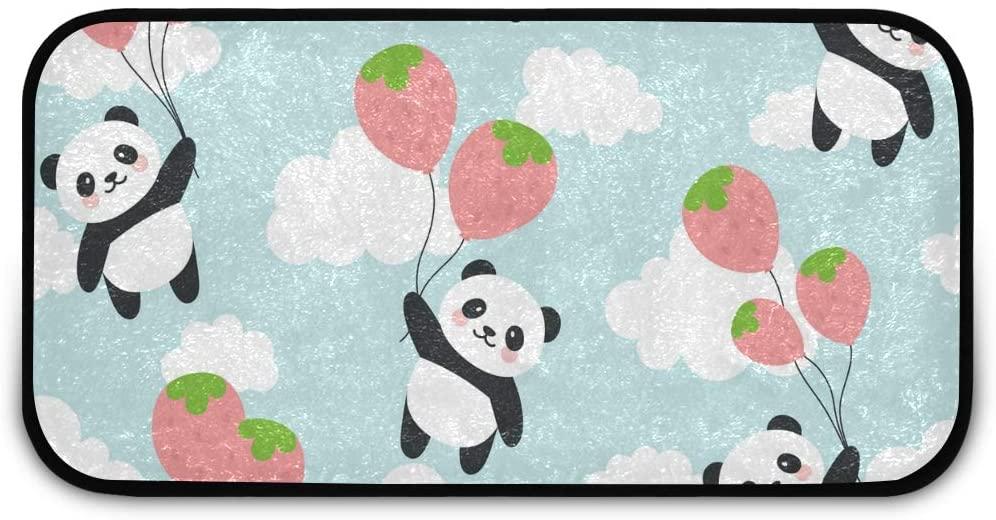 Rectangle Shaggy Rug Rugs Kitchen for Kids Watercolor Panda Animal Farmhous Anti-Slip Rug Rectangle Carpet Play Mat