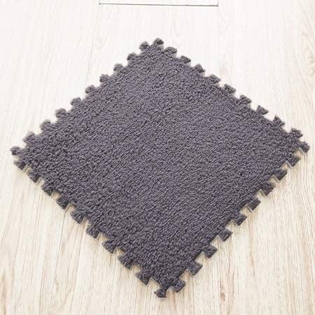 Carpets 10/12Pcs DIY 30301cm Living Room Bedroom Children Kids Soft Carpet Magic Patchwork Jigsaw Splice Heads Baby Climbing Mat (Color : Grey, Size : 12 pcs)