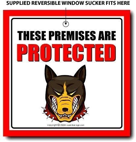 SECURITY Signs iwantthatsign.com Protected Premise Sign, Home Security Sign, Office Security Sign, Guard Dog Sign, Keep Out Sign