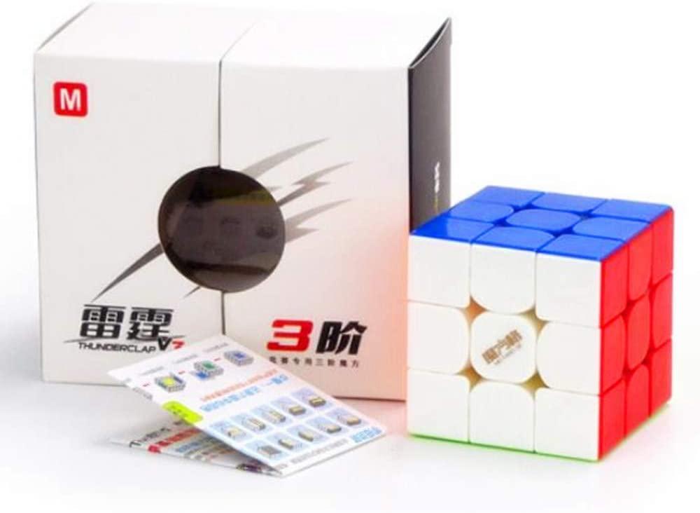 CuberSpeed Qiyi Thunderclap V3 M 3x3 stickerless Speed Cube MoFangGe Thunderclap V3 3x3x3 Magnetic Speed Cube