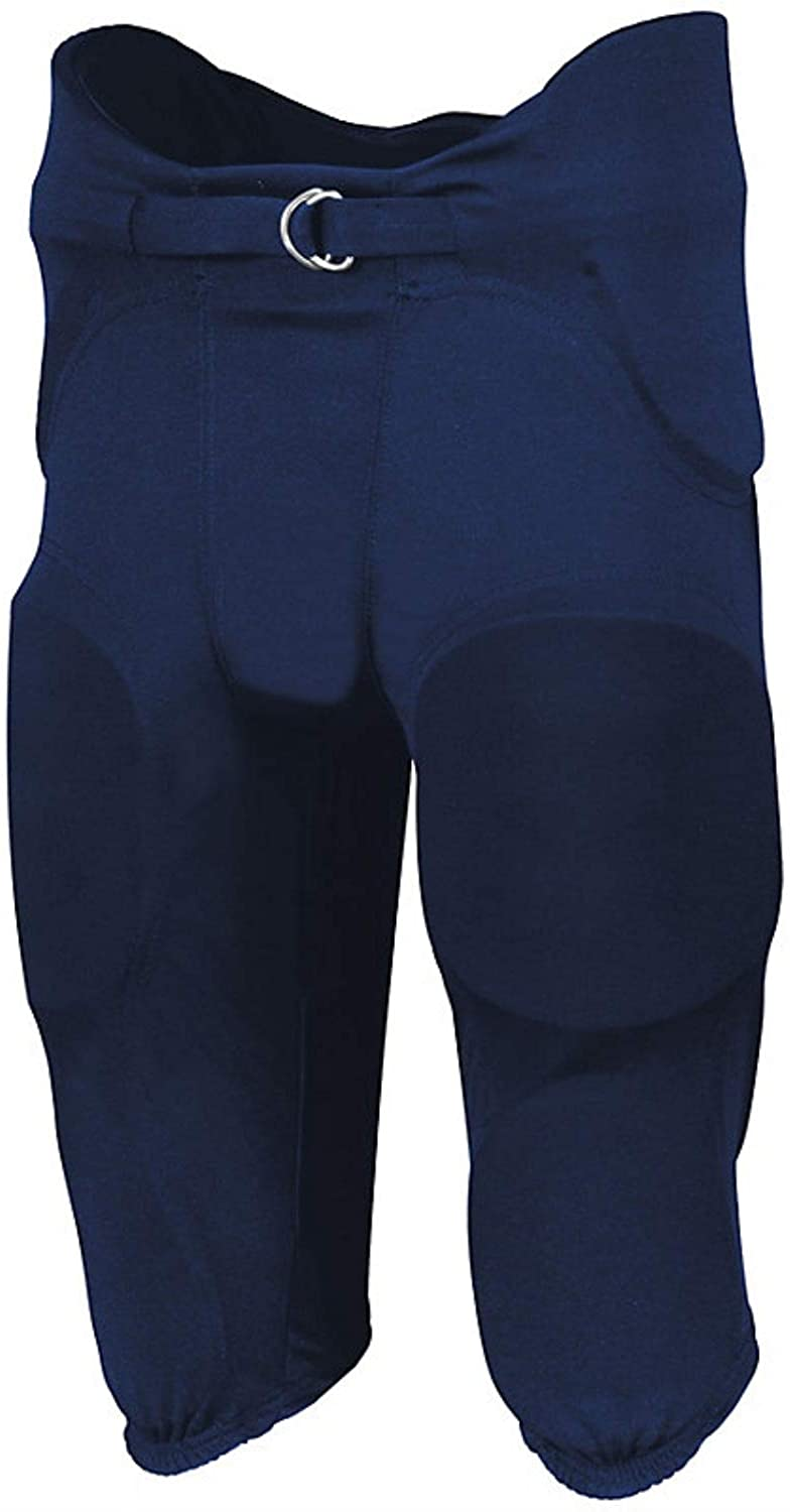 Russell Adult Integrated 7 Piece Pad Football Pants - Navy-S