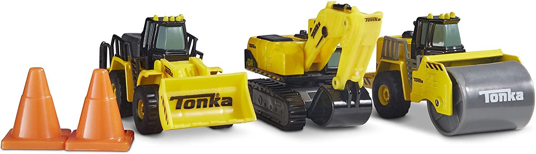 Funrise Tonka Diecast Construction 2 - Front Loader, Quarry Dump Truck & Excavator