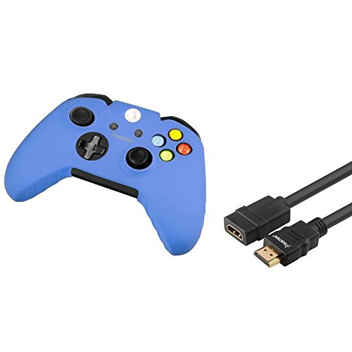 HDMI Male to Female M/F Extension Cable 6FT Extend+Blue Skin Case for xBox One