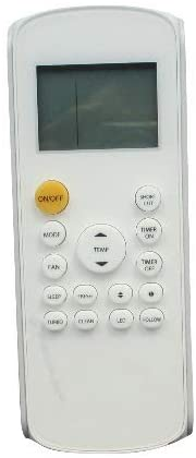 Calvas Remote Control For Kaysun RG57A6/BGEF KID 02S and thermocore T3E16S-H112 AC A/C Air Conditioner