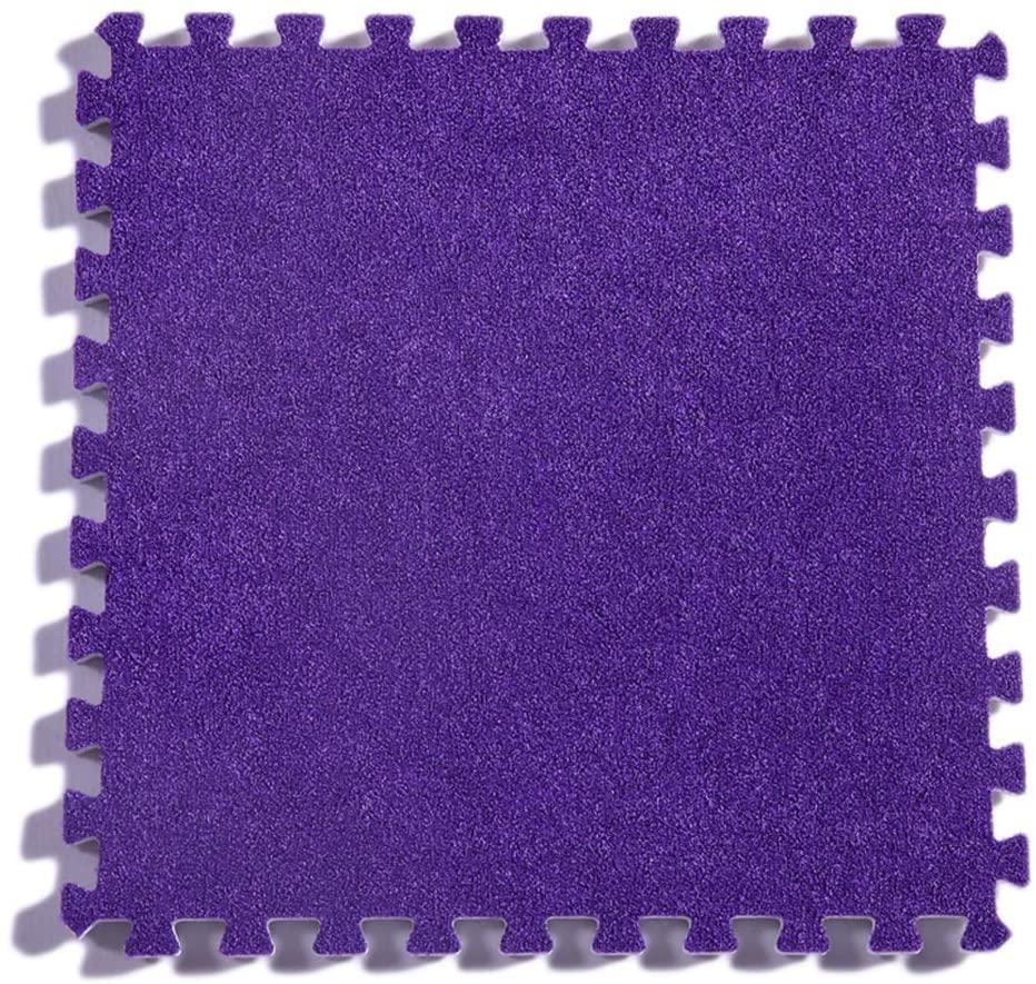 KFDQ Spliced Carpets,Carpet Floor Mat Puzzle Plus Thick Square Block Splicing Mats Can Be Scrubbed Living Room Bedroom Crawling Mat, 30X30X1Cm, 4 Colors,D,27 Pcs