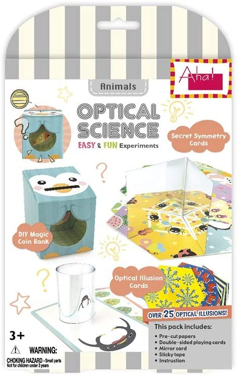 Aha! Optical Science Mirror DIY Experiment Educational Toy Early Learning Kit for 3+ Kids