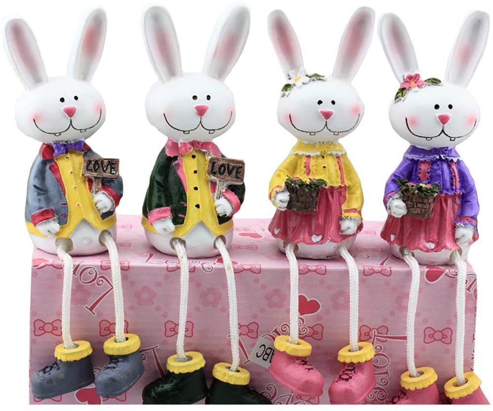 Ziyier Home/Car Decoration 4 Rabbits Set/ Gift/