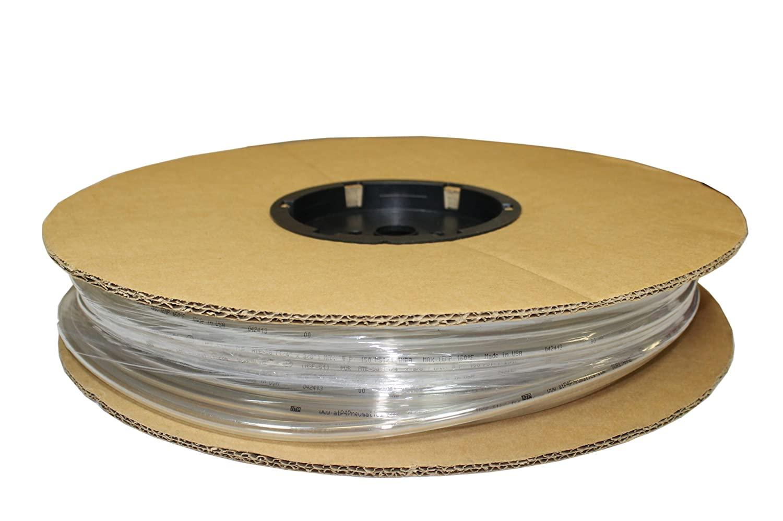 ATP Surethane Polyurethane Plastic Tubing, Clear, 21/64 ID x 1/2 OD, 100 feet Length