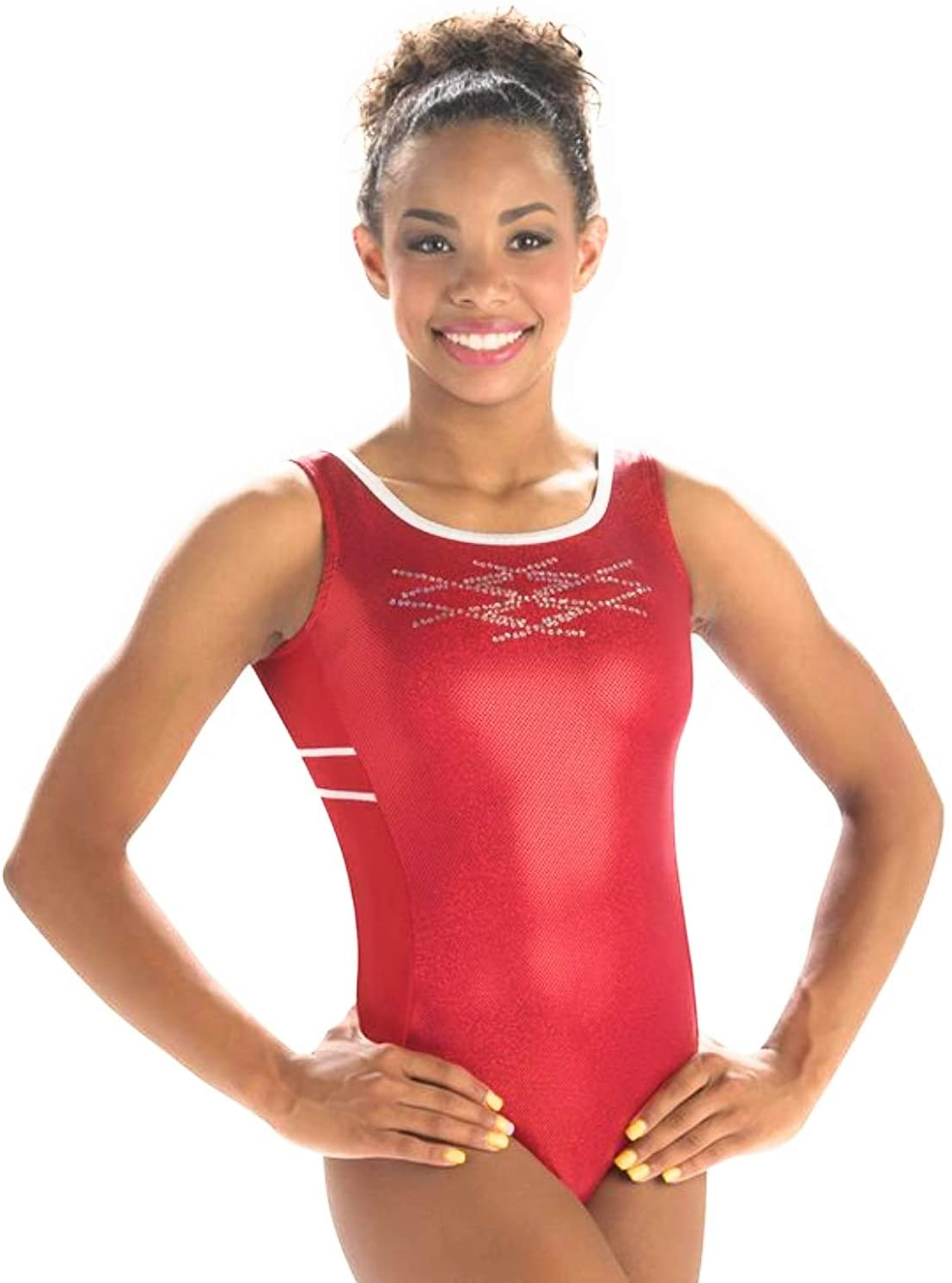 GK Elite Red Sparkle Tank Holiday Leotard Adult X-Small AXS