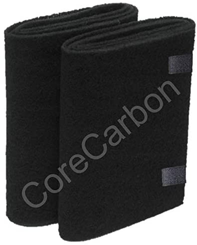 CoreCarbon 2-Pack Exact Fitment Pre-Filter Designed to Fit Honeywell 23500 or Two HRF-F1 (Labeled F) with Two Gaskets Air Purifier Round Replacement Filters