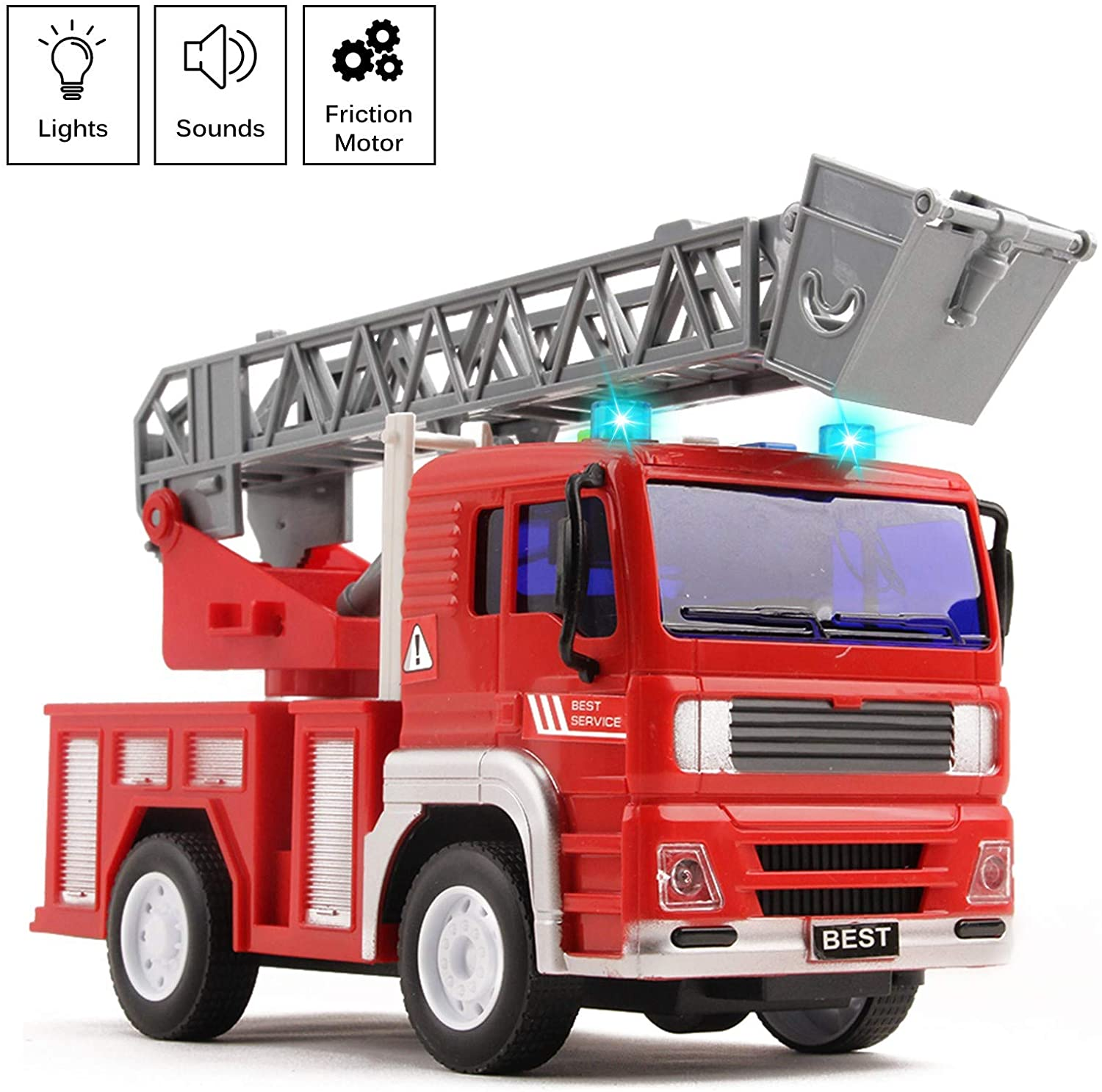 Vokodo Fire Truck Rescue with Lights and Sounds 12.5