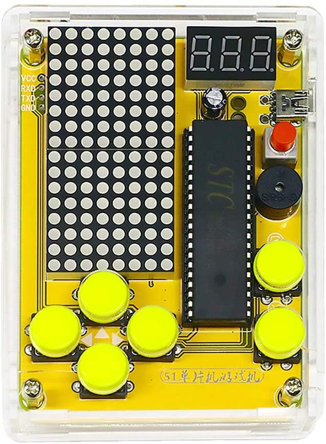 ECUDIS Electronic Soldering Kit, DIY Kit Module Soldering Practice Learning Kits, Retro Classic Game Kit with Case