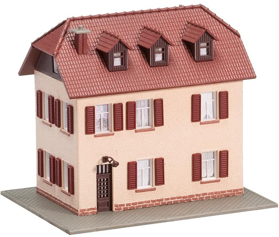 Faller 232328 2-Storey Home with Shutters N Scale Building Kit