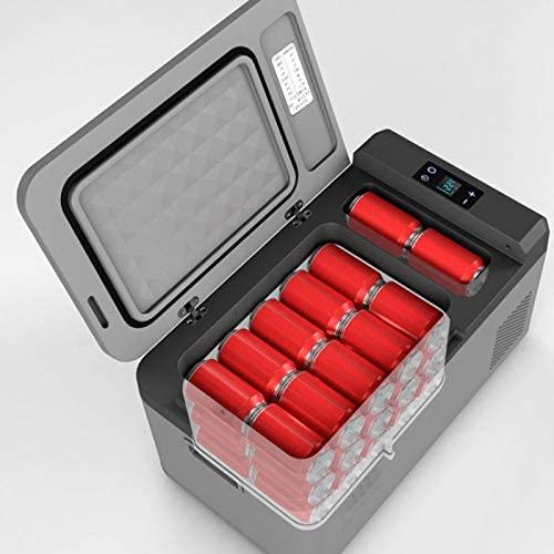 GUAPIHUO YLJCZBXAZ Mini Fridge, Mini Fridge Cooler and Warmer | Compact, Portable and Quiet | AC DC Power Compatibility (Gray)