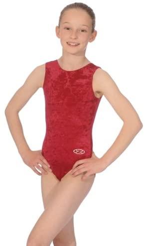 The Zone Z103SAL Sleeveless Gymnastics Leotard, Smooth Velour Claret, Size 28