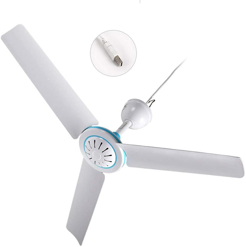 CAOREN Universal Household 5V Ceiling Fan Air Cooler Hanging USB Powered Tent Fans for Home Bed Camping Outdoor Office