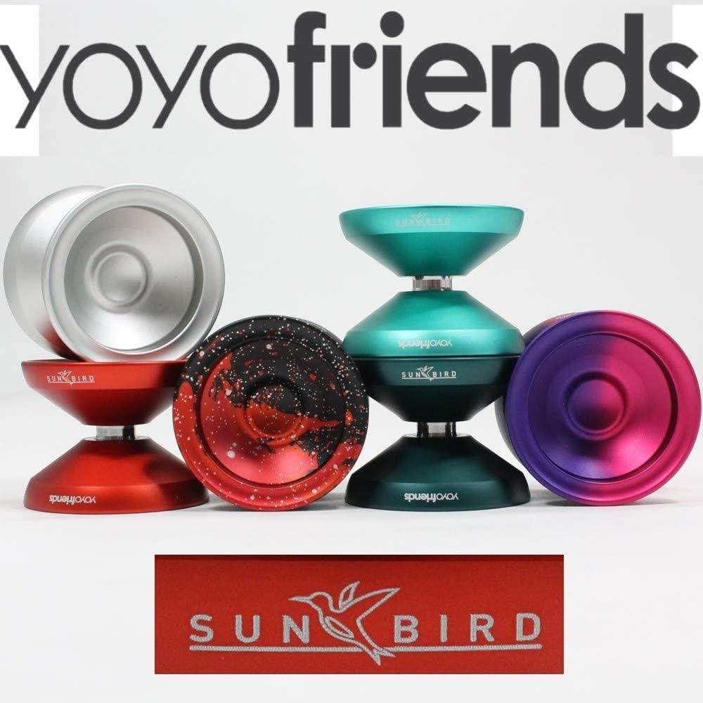 yoyofriends Sunbird Yo-Yo - Aluminum Monometal YoYo (Silver)