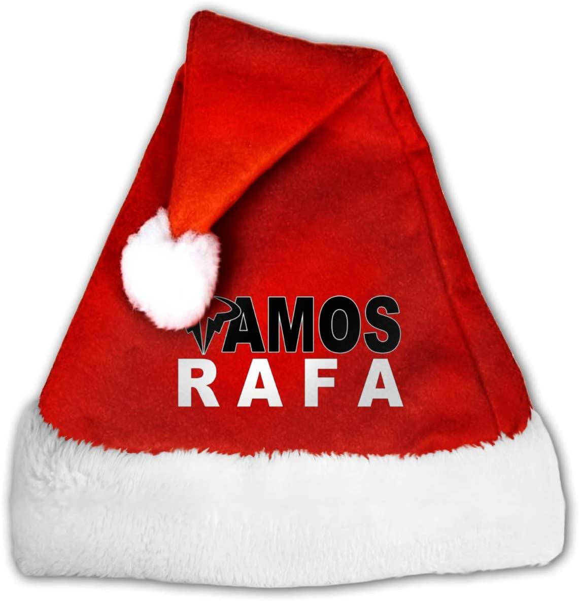 Adult Kid's Vamos RAFA Christmas Hat Red Plush Holiday Party Caps