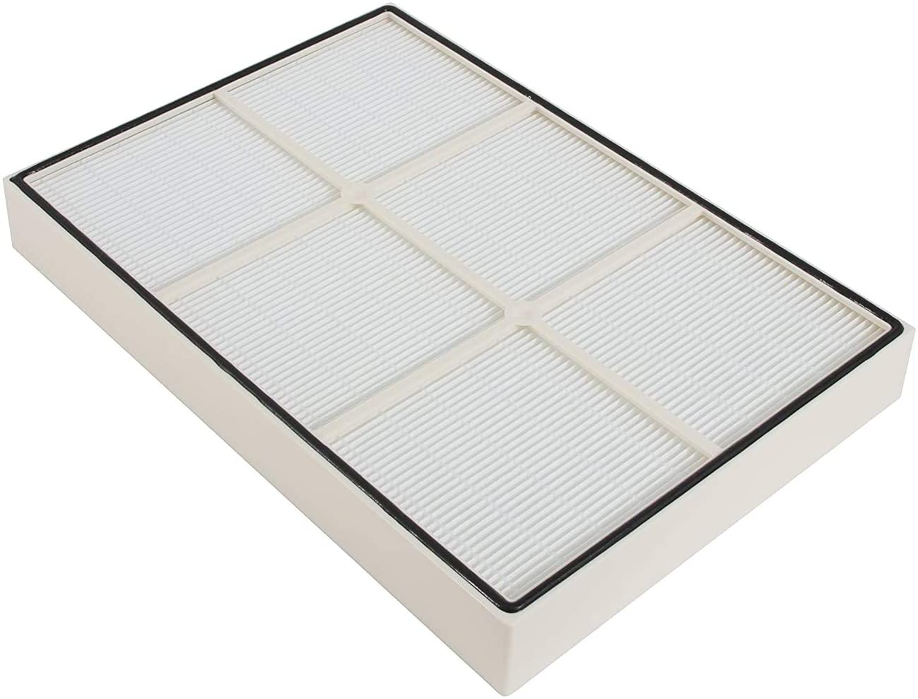 LifeSupplyUSA 50 Pack Replacement HEPA Filter Compatible with Whirlpool Whispure 1183054K AP350 AP450 AP510 Air Purifiers (Plastic Frame)