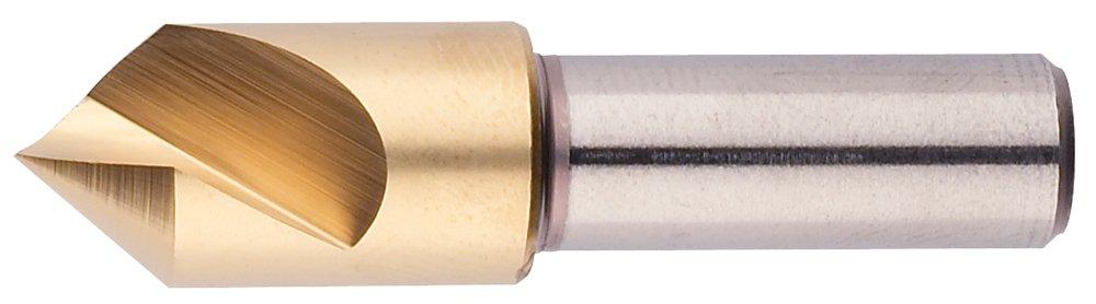 Morse Cutting Tools 25656 Single Flute Countersink, M42 8% Cobalt, Titanium Nitride Coated, 60 Degree Point, 1