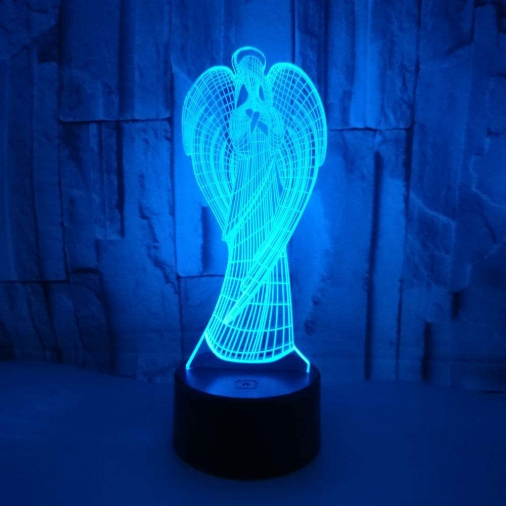 3D Night Light For Kids, Boys And Girls Led Virgin Mary Illusion Light, Christmas Birthday Party Gift For Children, 16 Color Changing Remote Control Bedside Table Lamp Bedroom Decorative Lamp