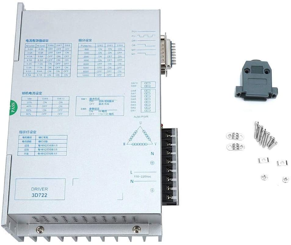 DSY Motor Research Driver Control Driver, 3D722 Bipolar Constant Current Chopping Research&Control Driver for 3-Phase Motor