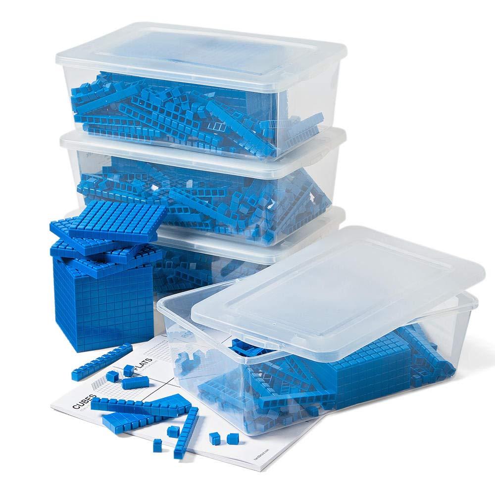 hand2mind Blue Interlox Base Ten Blocks, Class Set (Set of 644)