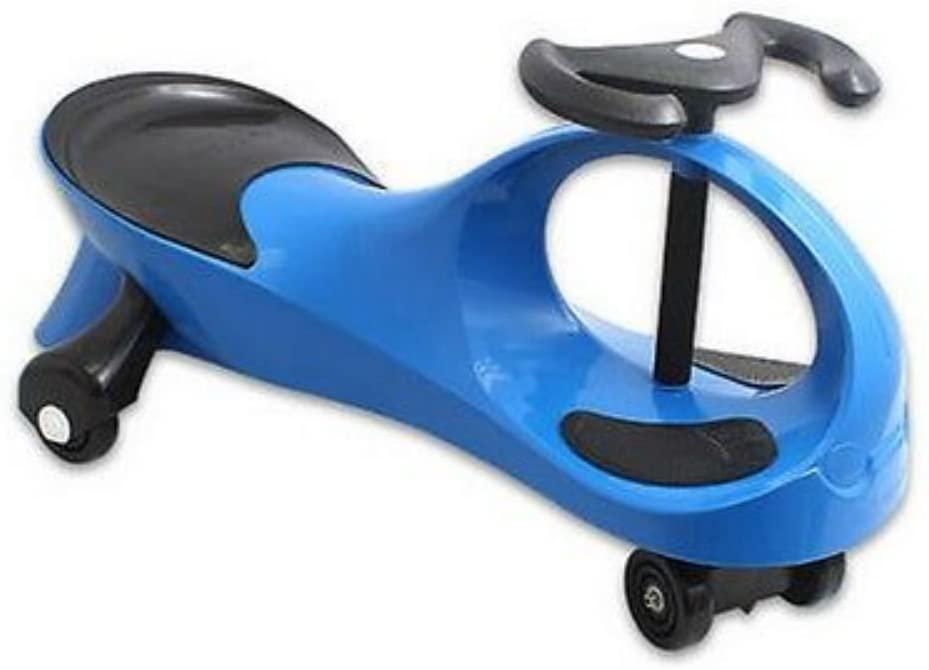 Unbranded Blue Twistcar Roller Twist Car Kids Ride On Wiggle Outdoor Play Swing Vehicle