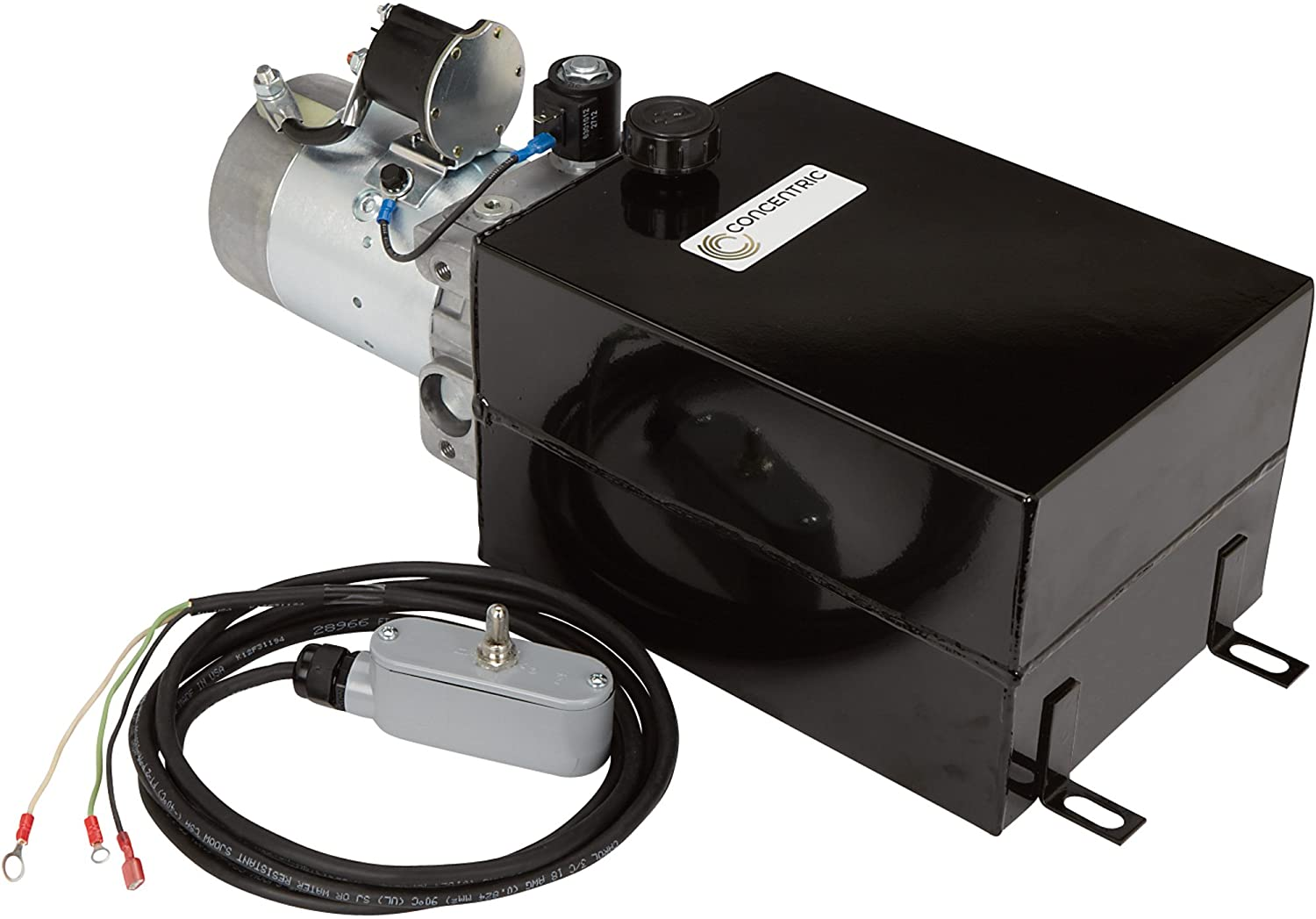 Concentric 12 Volt DC Power Unit - Solenoid Operation, Single Acting, Model Number 1261096