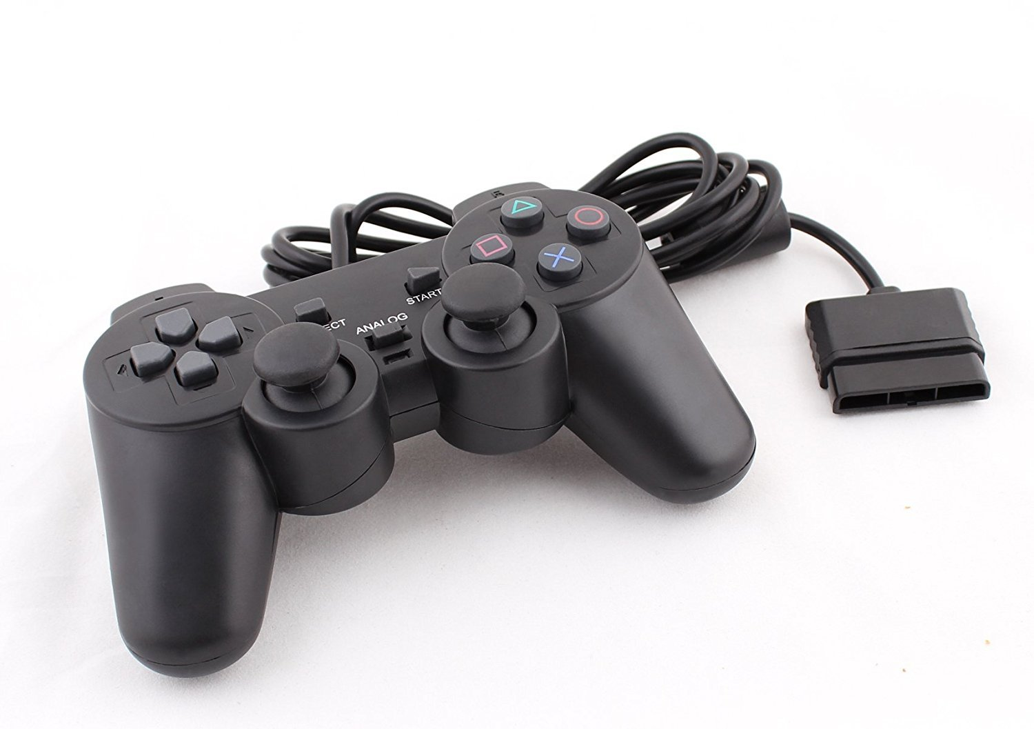 Play Station 2 Wired Controller, Gamepad, Black