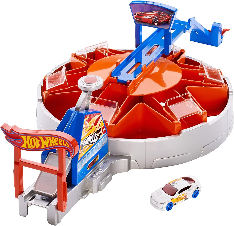 Mattel Hot Wheels Launching Garage Playset