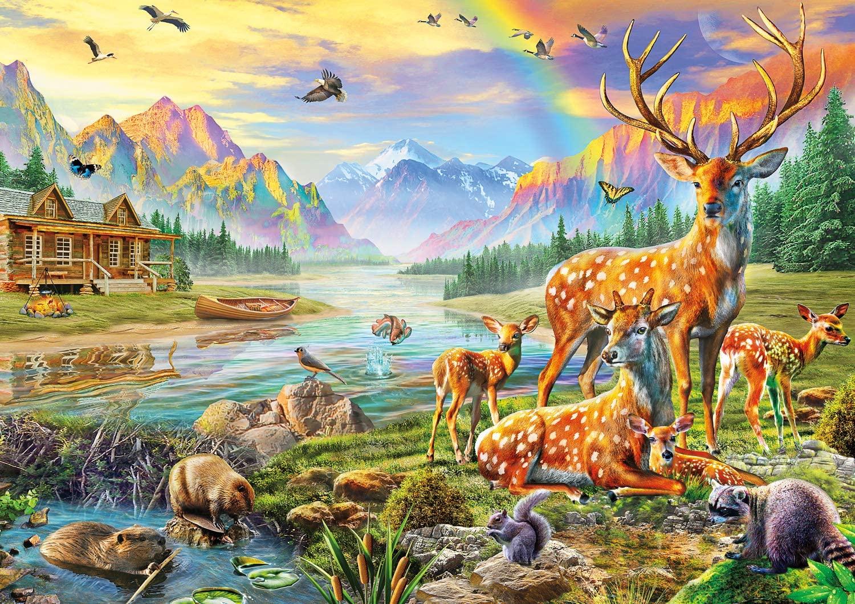 Buffalo Games - Deer Lake - 500 Piece Jigsaw Puzzle