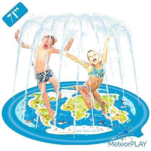 MeteorPLAY Slip and Slide, Sprinkler Splash pad, Wading Pool, Water Slide, 71