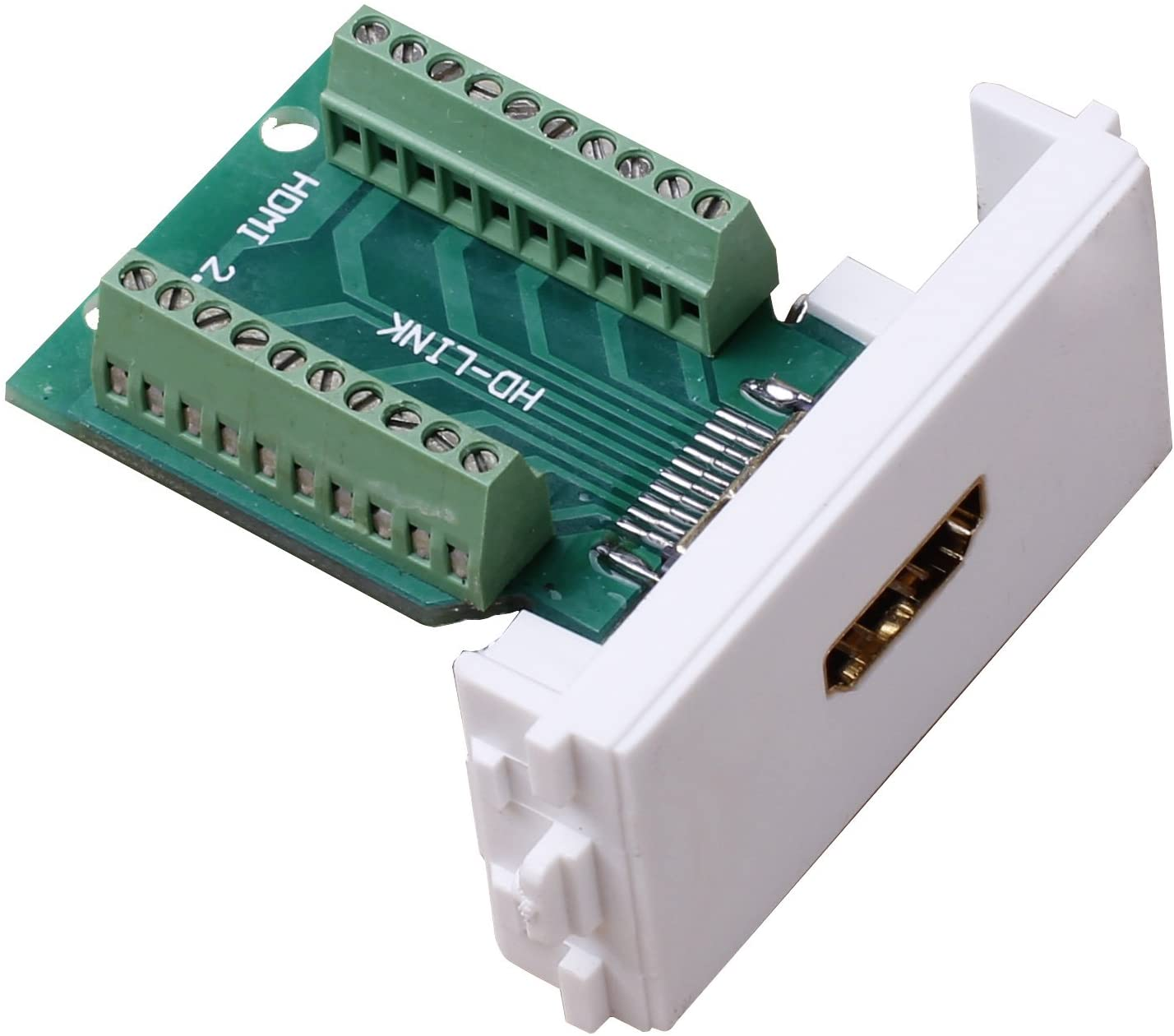 Uniquers Panel Mount HDMI Socket to Terminal Block Breakout