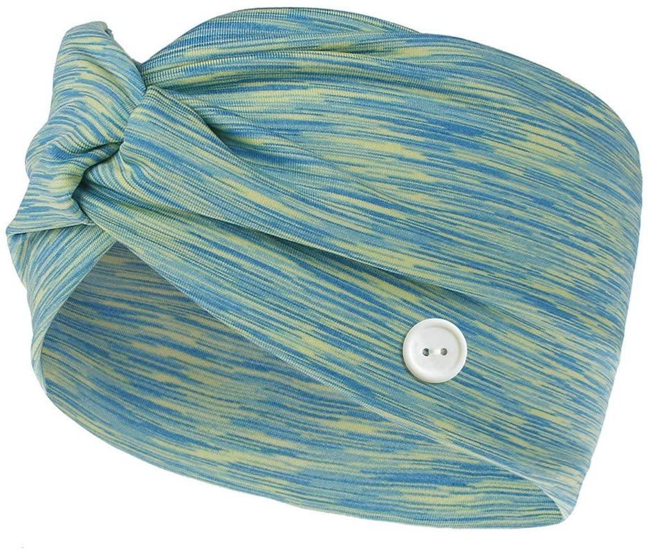 YunZyun Buttons Headband for Men Women Headscarf Holder Protect Your Ears Buttons Face Headbands Cotton Yoga