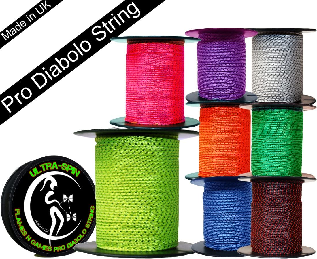 ULTRA-SPIN Pro Diabolo String 25m Reel (Choice of Colors) Performance, High Speed Diablo String for all Diabolos. (Blue)