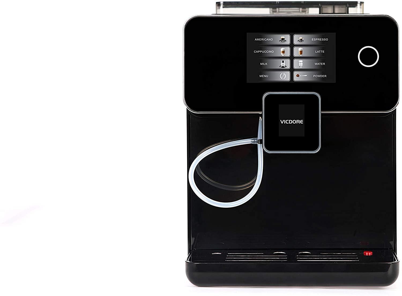 VICDORE Electric espresso machines,Digital Automatic Cappuccino, Latte, Macchiato and Espresso Machine