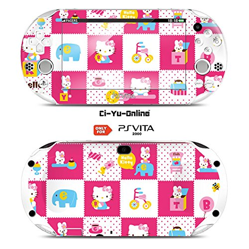 Ci-Yu-Online VINYL SKIN [PS Vita] - Hello kitty #2 - STICKER DECAL COVER for Sony PlayStation Vita 2000 Console System