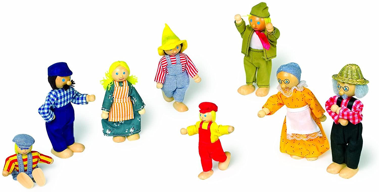 Goki Flexible Puppets Farmer Family II