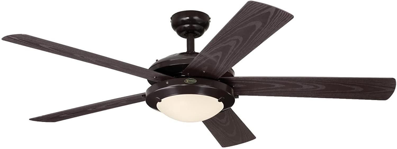 Westinghouse Lighting 7200700 Comet Indoor/Outdoor Ceiling Fan with Light, Espresso