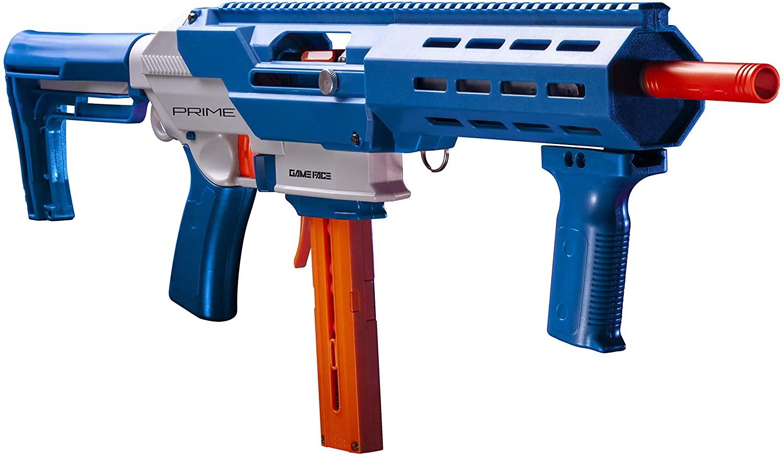 Game Face Prime GFJBB Spring-Powered Foam Dart Blaster, Blue